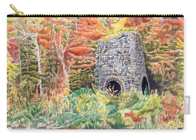 Stones Carry-all Pouch featuring the painting Stone Furnace by Dominic White