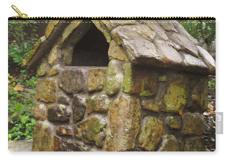 Rock City Carry-all Pouch featuring the photograph Stone Hut by Lori Mahaffey