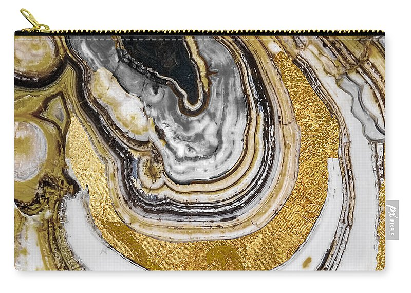 Geode Carry-all Pouch featuring the painting Stone Prose by Mindy Sommers