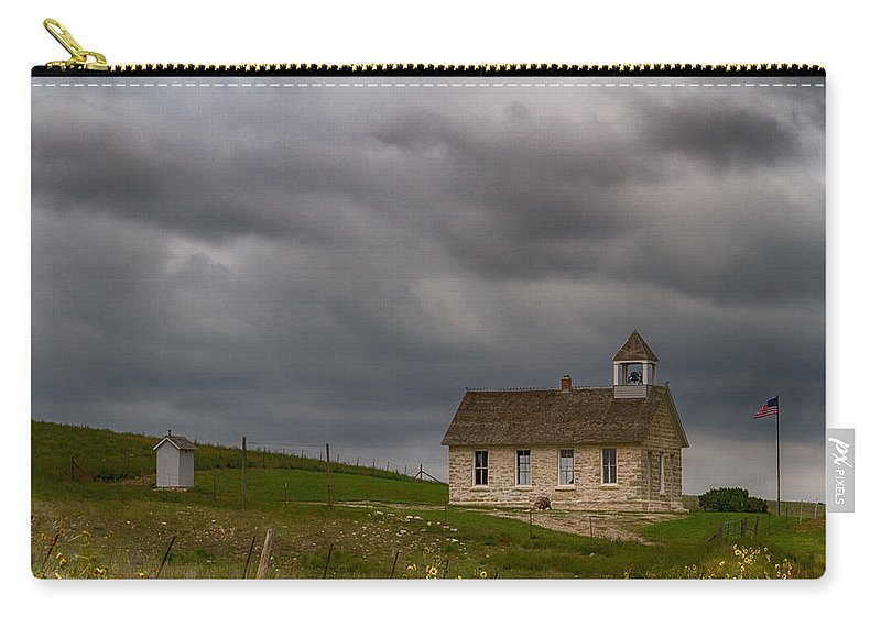 School Carry-all Pouch featuring the photograph Stone Schoolhouse by Guy Shultz
