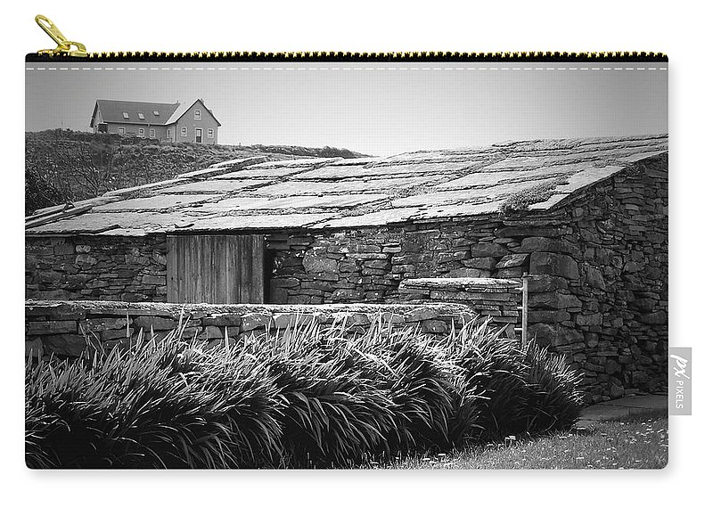 Irish Carry-all Pouch featuring the photograph Stone Structure Doolin Ireland by Teresa Mucha