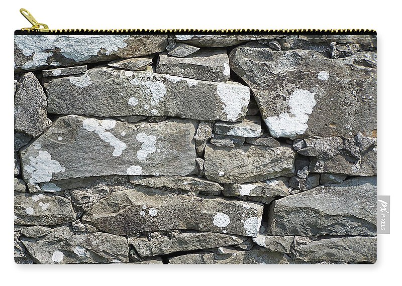 Irish Carry-all Pouch featuring the photograph Stone Wall Detail Doolin Ireland by Teresa Mucha