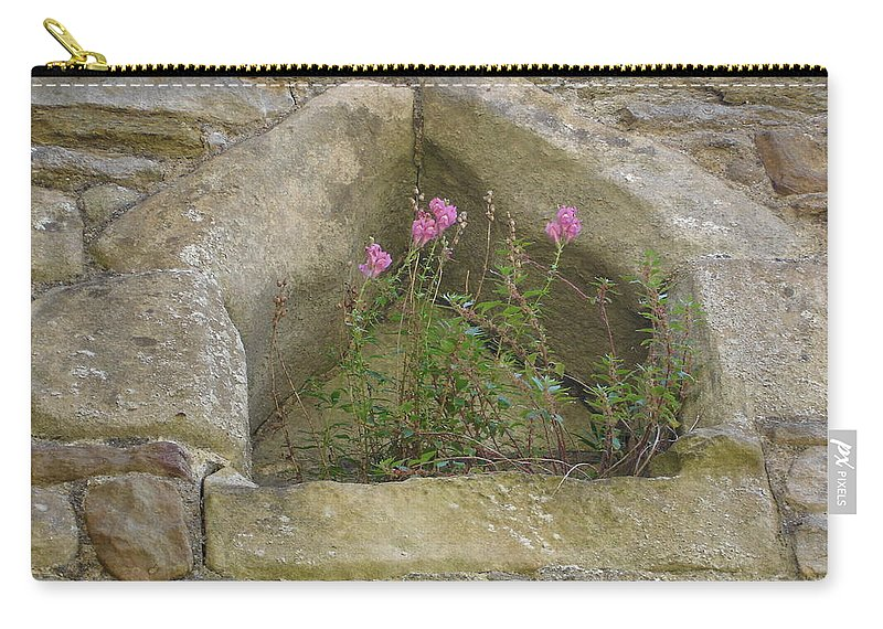 Flowr Carry-all Pouch featuring the photograph Stone Wall Determination by Susan Baker