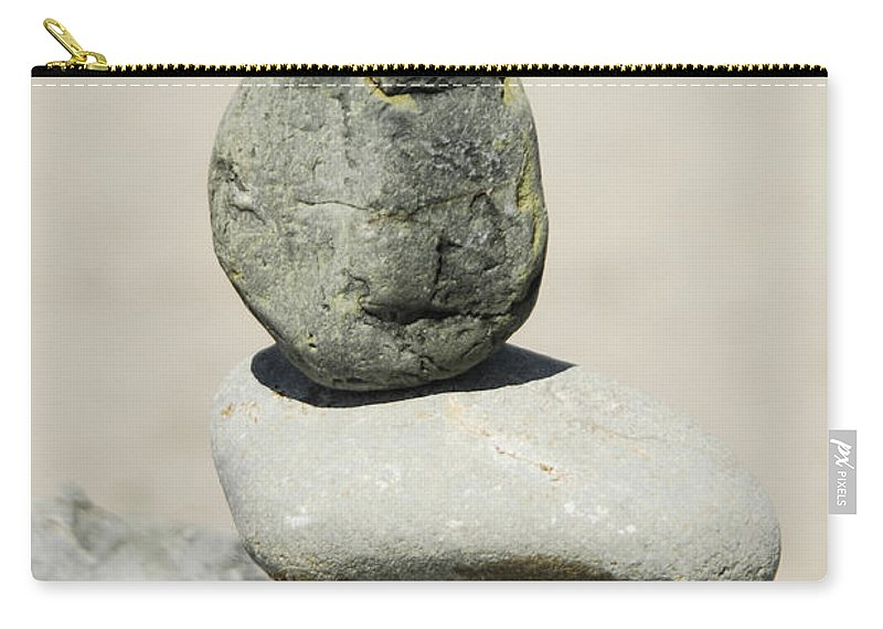 Rock Carry-all Pouch featuring the photograph Stoned by Donna Blackhall