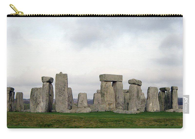 Stonehenge Carry-all Pouch featuring the photograph StoneHenge by Amanda Barcon