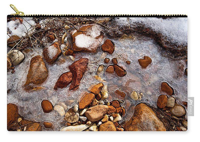 Ice Carry-all Pouch featuring the photograph Stones And Ice by Christopher Holmes