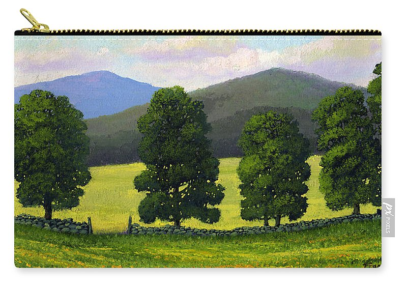 Landscape Carry-all Pouch featuring the painting Stonewall Field by Frank Wilson