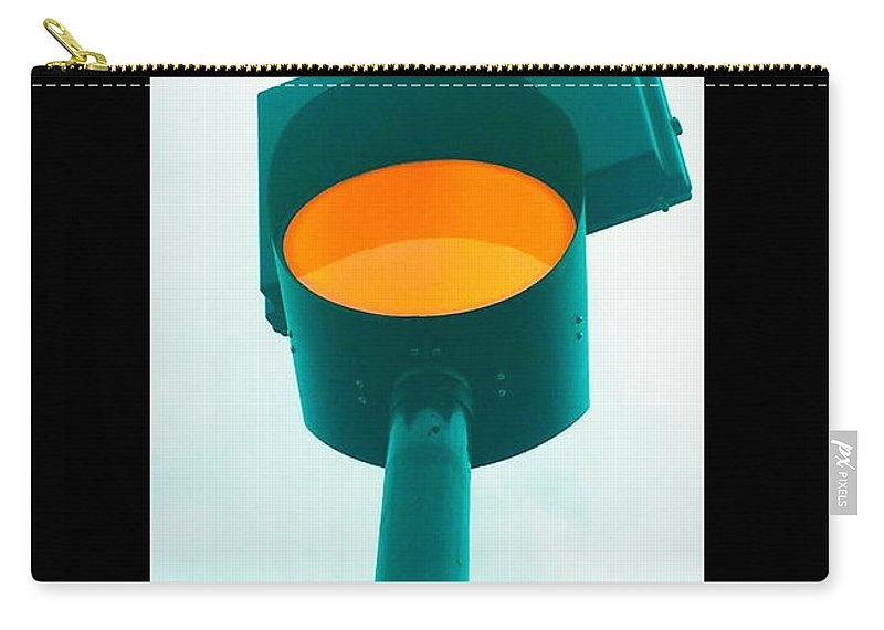Stop Carry-all Pouch featuring the photograph Stop by Mark Bloomer