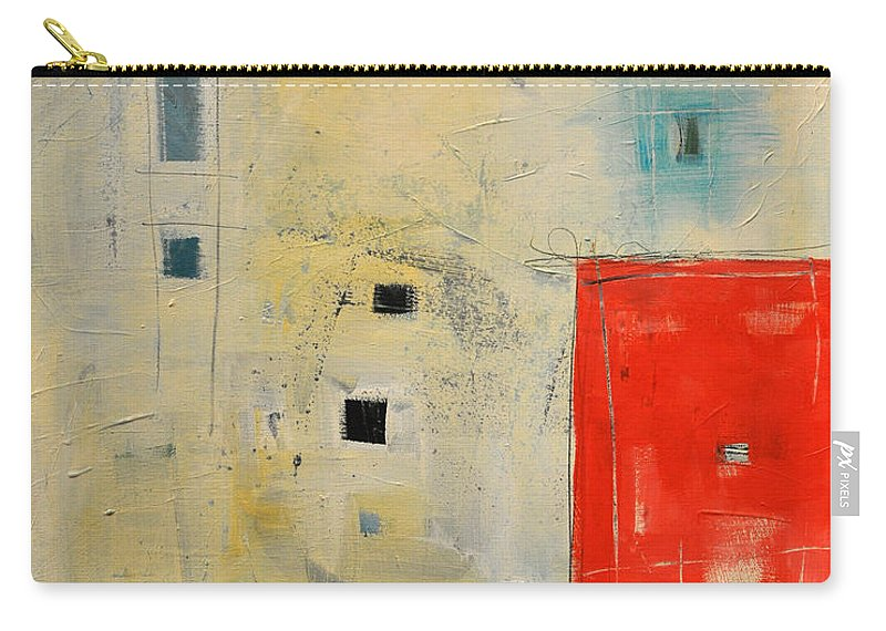 Abstract Carry-all Pouch featuring the painting Storage Shed by Tim Nyberg