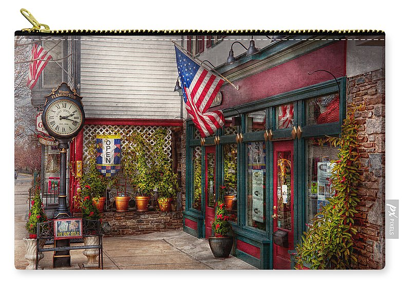 New Jersey Carry-all Pouch featuring the photograph Store - Flemington Nj - Historic Flemington by Mike Savad
