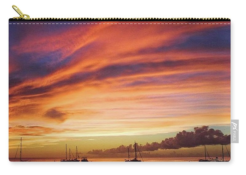 Trinidadandtobago Carry-all Pouch featuring the photograph Store Bay, Tobago At Sunset #view by John Edwards