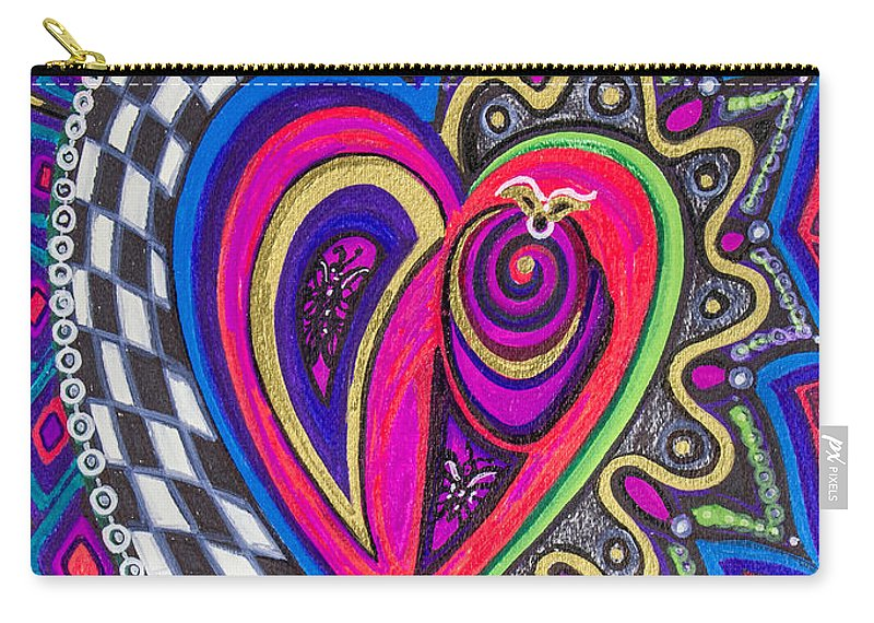 Heart Carry-all Pouch featuring the painting Stored Deep Inside by Laurel Rosenberg