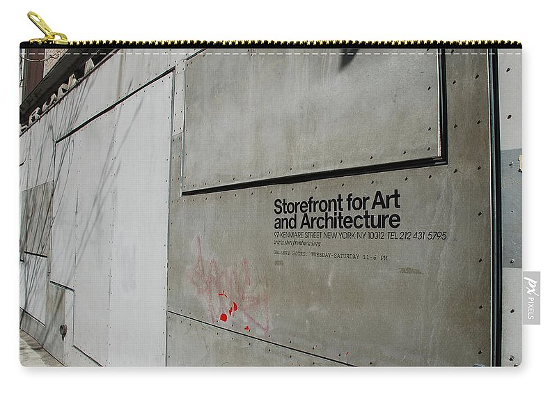 Storefront Carry-all Pouch featuring the photograph Storefront For Art And Architecture by Rob Hans