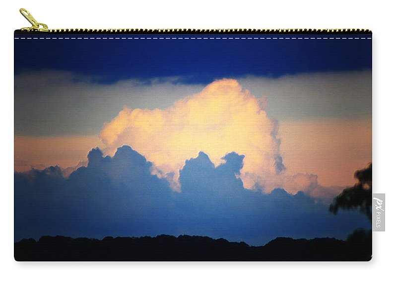 West Carry-all Pouch featuring the digital art Storm Approaching Painting by Teresa Mucha