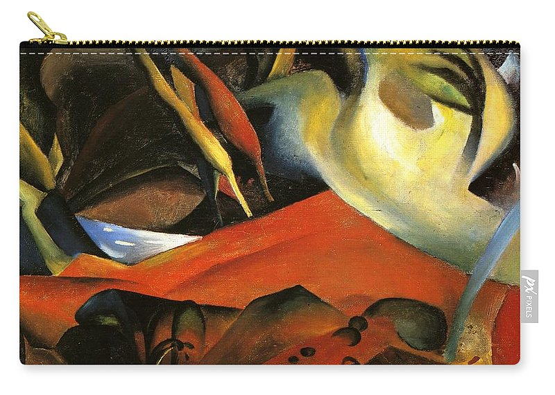 August Macke Carry-all Pouch featuring the painting Storm by August Macke