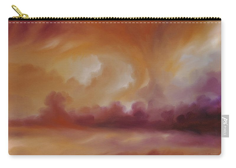 Tempest Carry-all Pouch featuring the painting Storm Clouds 2 by James Christopher Hill