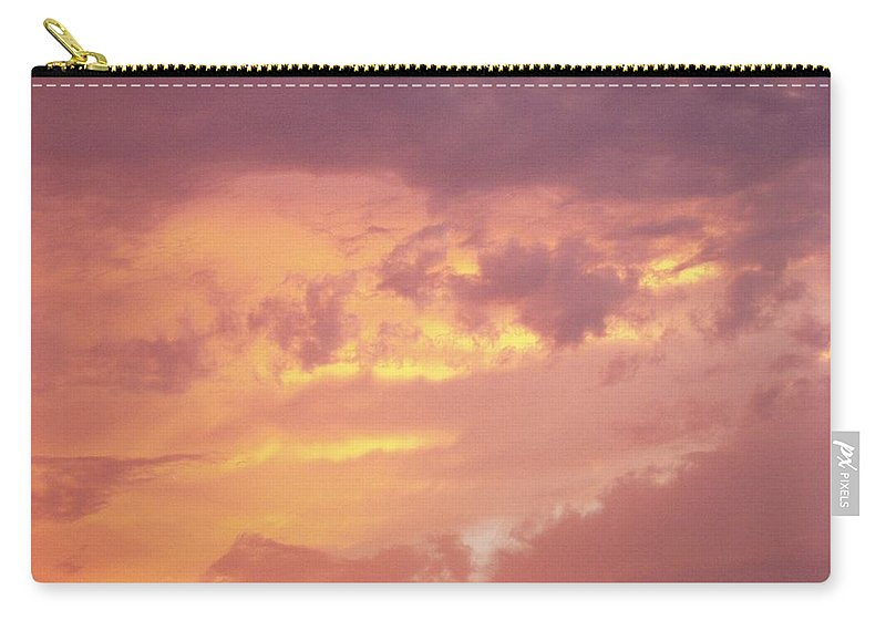 Clouds Carry-all Pouch featuring the photograph Storm Clouds by Deborah Crew-Johnson