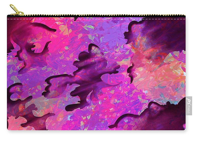 Abstract Carry-all Pouch featuring the digital art Storm Clouds by Rachel Christine Nowicki