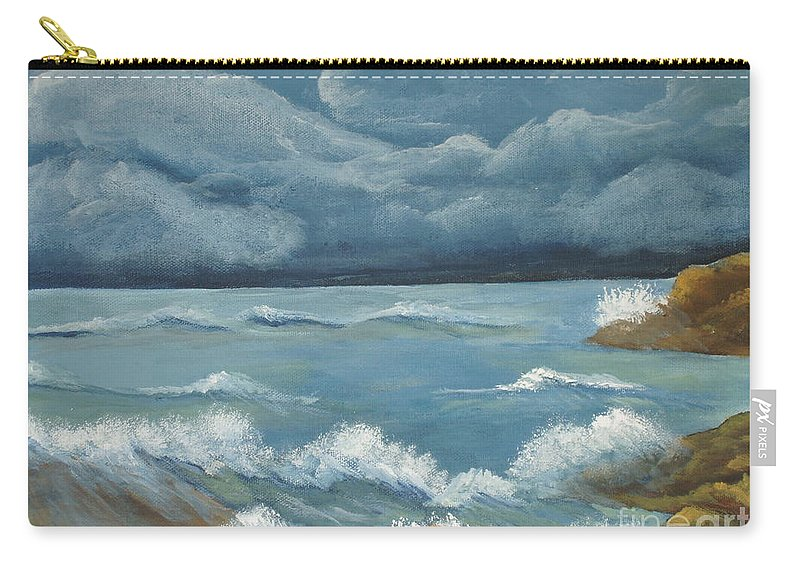 Art Work Carry-all Pouch featuring the painting Storm by Gladis Sagi