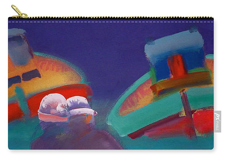 Storm Carry-all Pouch featuring the painting Storm Horizon by Charles Stuart