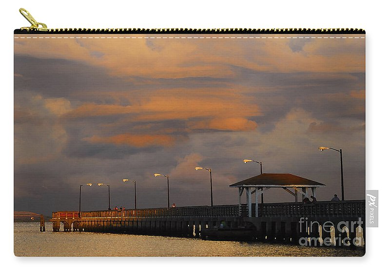 Storm Carry-all Pouch featuring the photograph Storm Over Ballast Point by David Lee Thompson