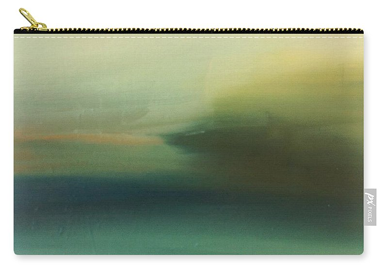Landscape Carry-all Pouch featuring the painting Storm Over Cuba by Michelle Abrams