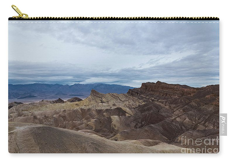 Rain Carry-all Pouch featuring the photograph Storm Over Zabriskie Point by Jeffrey Hubbard