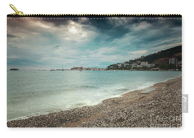 Colourful Carry-all Pouch featuring the photograph Storm Rolling In by Sophie McAulay