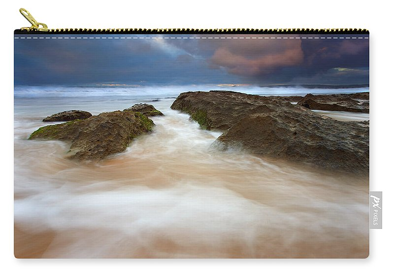 Seascape Carry-all Pouch featuring the photograph Storm Shadow by Mike Dawson