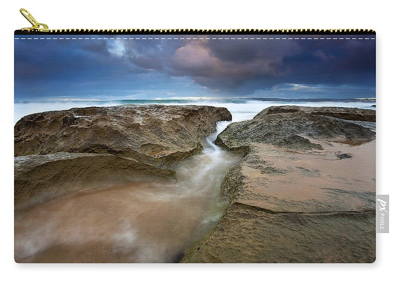 Storm Surge Carry-all Pouch featuring the photograph Storm Surge by Mike Dawson