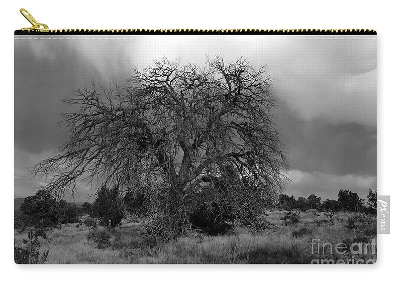 Storm Carry-all Pouch featuring the photograph Storm Tree by David Lee Thompson