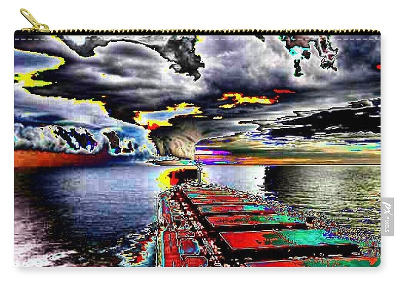 Storm Clouds Carry-all Pouch featuring the photograph Storm Warning by Tim Allen