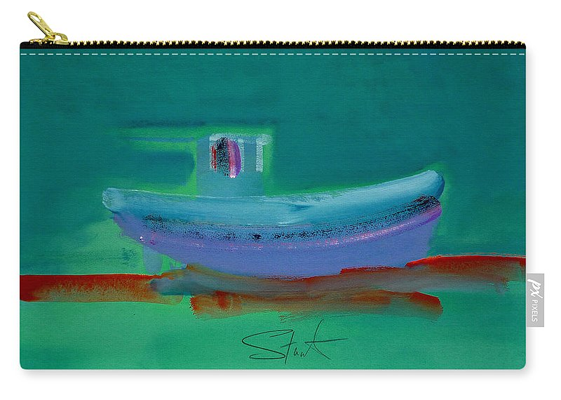 Deep Carry-all Pouch featuring the painting Stormbringer by Charles Stuart