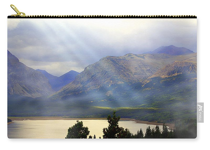 Glacier National Park Carry-all Pouch featuring the photograph Storms A Coming-lower Two Medicine Lake by Marty Koch