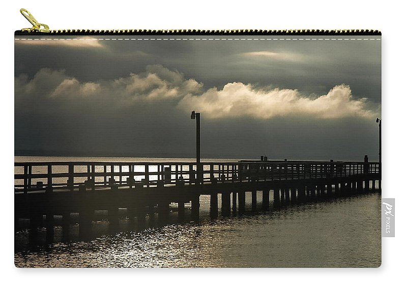 Clay Carry-all Pouch featuring the photograph Storms Brewin' by Clayton Bruster