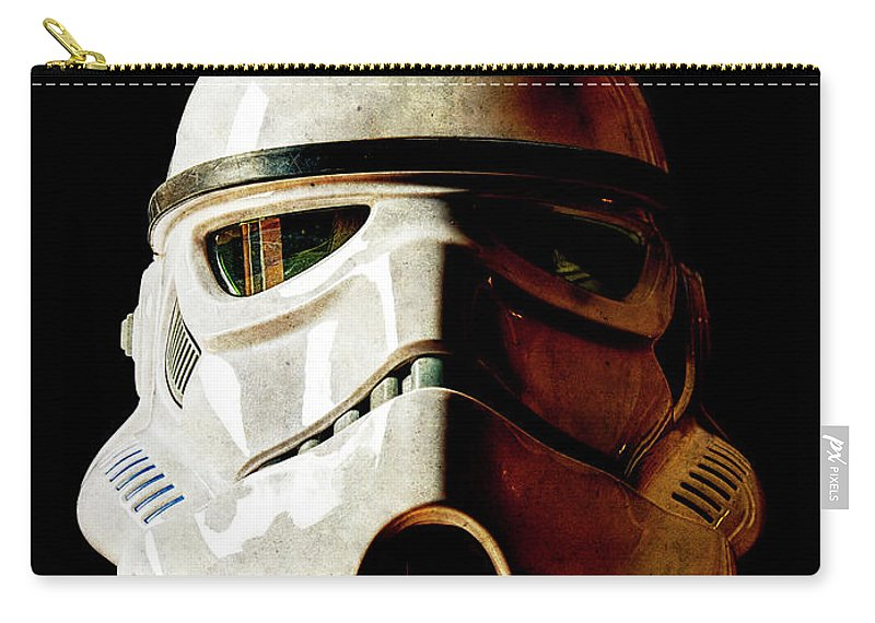 Stormtrooper Carry-all Pouch featuring the photograph Stormtrooper 1 Weathered by Weston Westmoreland