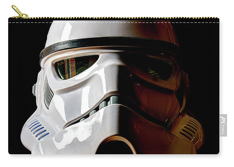Stormtrooper Carry-all Pouch featuring the photograph Stormtrooper 1 by Weston Westmoreland