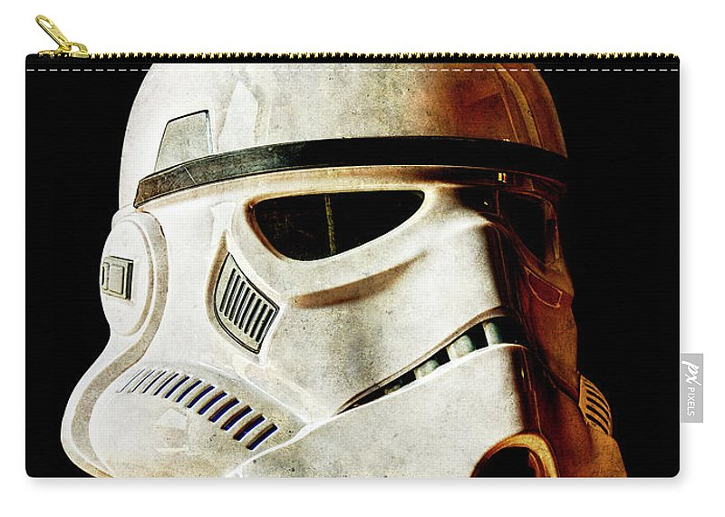 Stormtrooper Carry-all Pouch featuring the photograph Stormtrooper 2 Weathered by Weston Westmoreland
