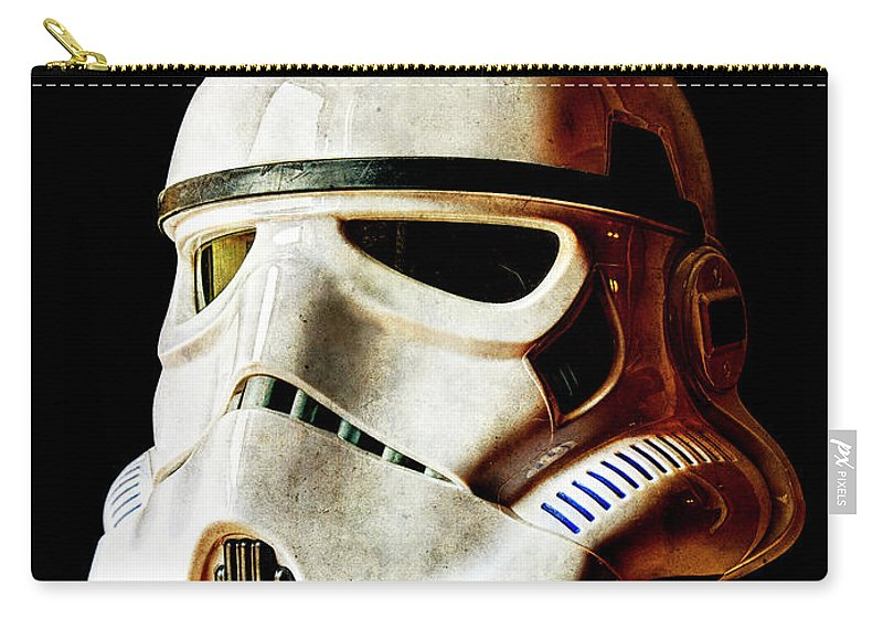 Stormtrooper Carry-all Pouch featuring the photograph Stormtrooper 3 Weathered by Weston Westmoreland