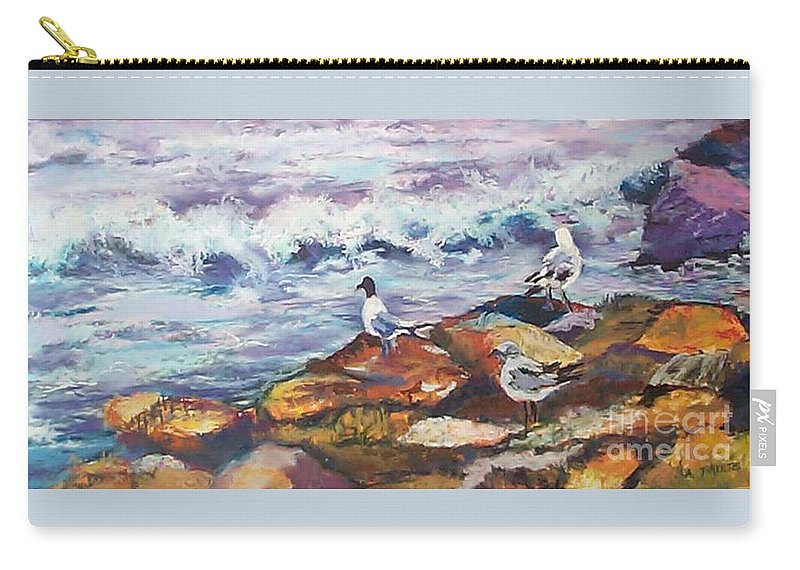 Coastal Carry-all Pouch featuring the pastel Stormwatch IIi by Alicia Drakiotes