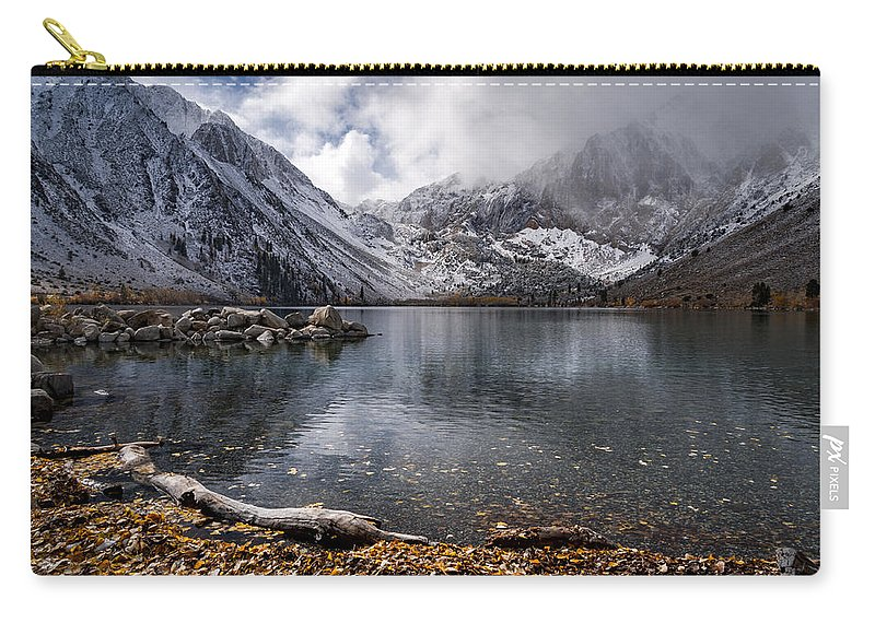 Lake Carry-all Pouch featuring the photograph Stormy Convict Lake by Cat Connor