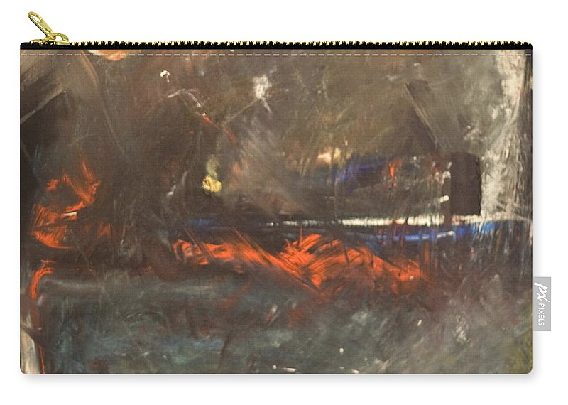 Storm Carry-all Pouch featuring the painting Stormy Monday by Tim Nyberg