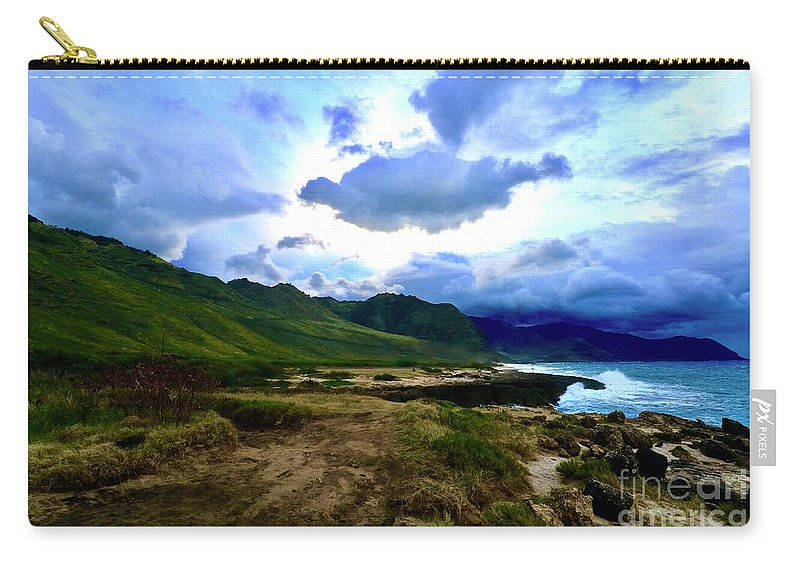 Seascape Carry-all Pouch featuring the photograph Stormy Morning by Craig Wood