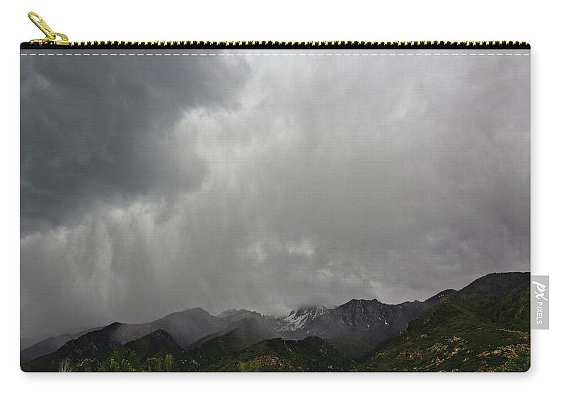 Mountain Carry-all Pouch featuring the photograph Stormy Mountain by Preston Maurer