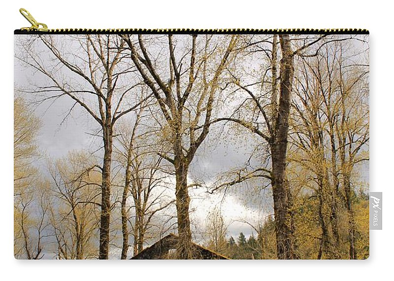 Landscape Carry-all Pouch featuring the photograph Stormy Skies by Margre Flikweert