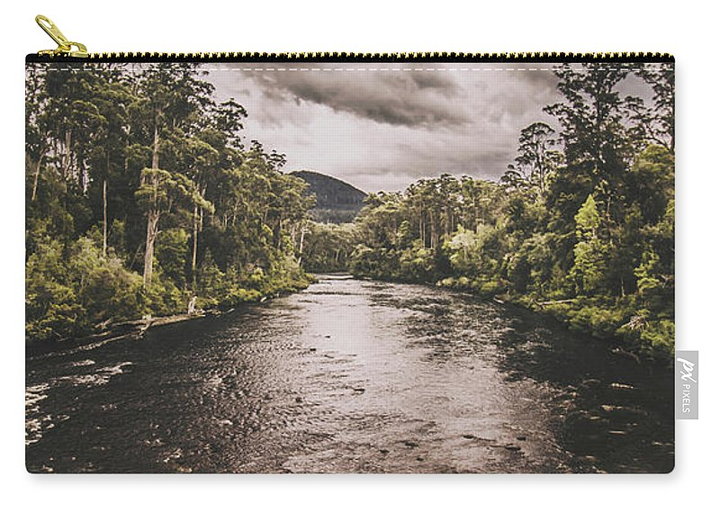 River Carry-all Pouch featuring the photograph Stormy Streams by Jorgo Photography - Wall Art Gallery