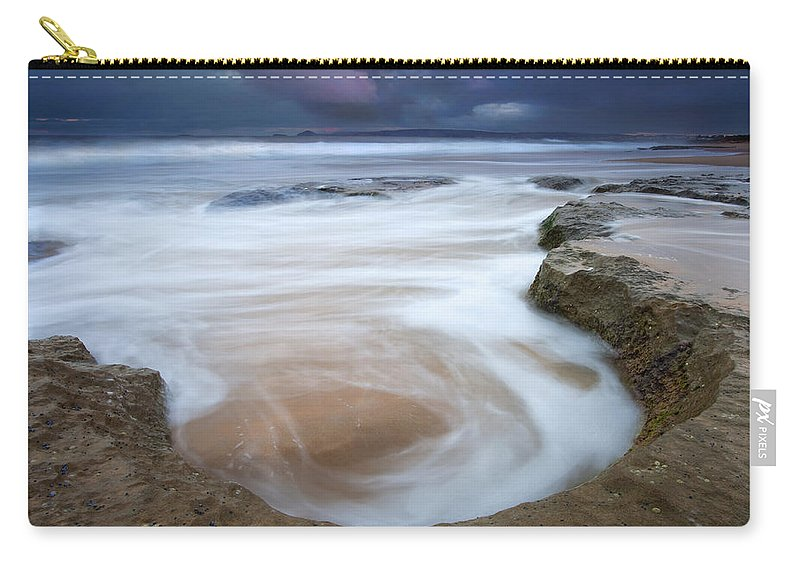 Sunrise Carry-all Pouch featuring the photograph Stormy Sunrise by Mike Dawson
