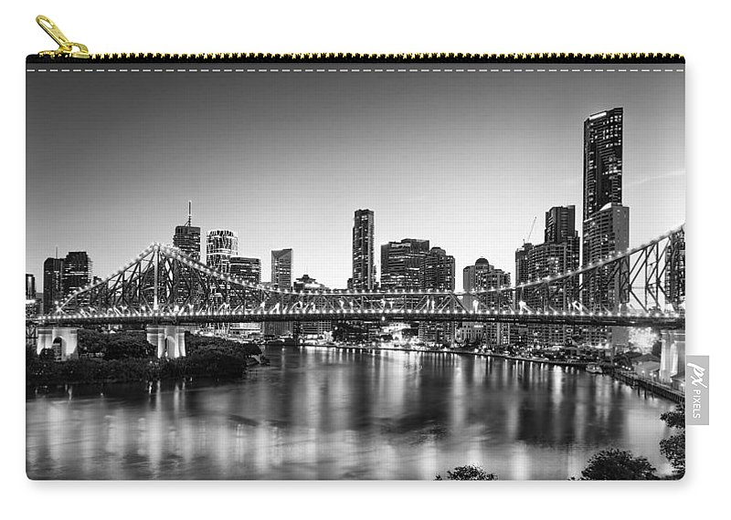 Story Bridge Carry-all Pouch featuring the photograph Story Bridge Brisbane by Charles King