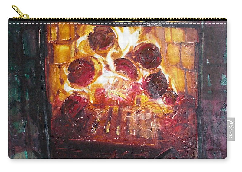 Oil Carry-all Pouch featuring the painting Stove by Sergey Ignatenko