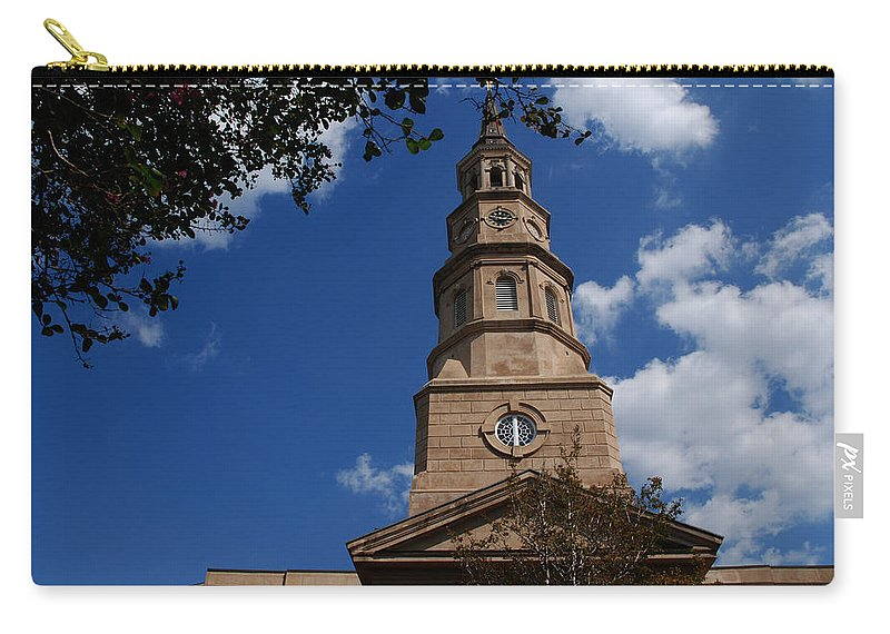 Photography Carry-all Pouch featuring the photograph St.philips Church Charleston Sc by Susanne Van Hulst